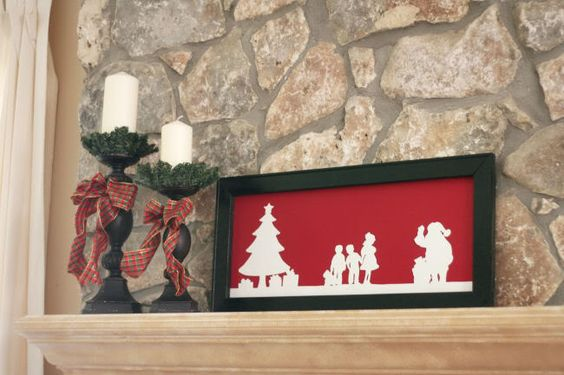 DIY silhouette for Christmas