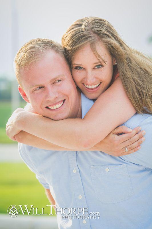 Engagement Session.  Beautiful couple.  Sunshine.  Smiles.  Happiness.