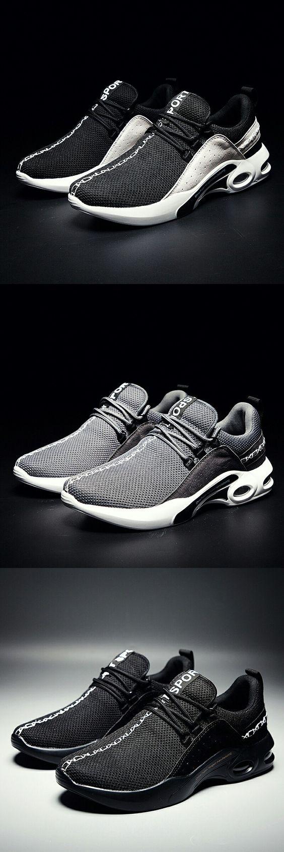 US $24.97 <Click to buy> Prikol Brand Mens Sport Running Shoes Breathable Jogging Outdoor Air Cushion Sneakers Men Outdoor Zapatillas Zapatos Hombres
