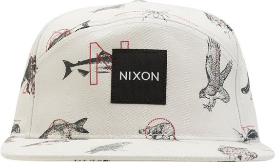 Man-imal...Nixon Snapper 5 Panel Hat http://www.swell.com/Manimal/NIXON-SNAPPER-5-PANEL-HAT-1?cs=TA