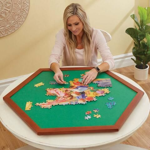 Puzzle Spinner Surface Square 34 Jigsaw Puzzle Table Puzzle