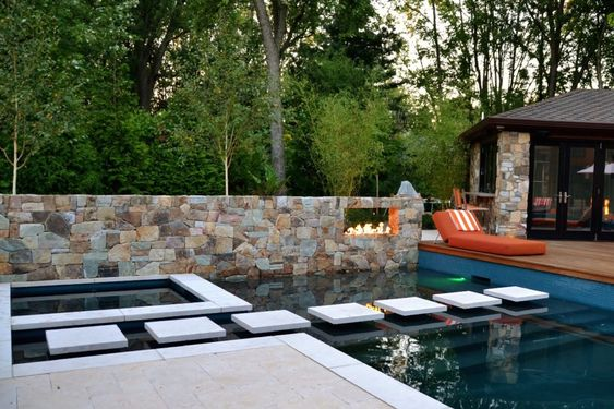 Pin by Schubert Stone on Pools mit Whirlpool Pinterest