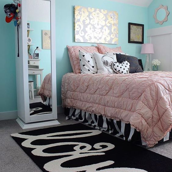 Pink Walls, Blush Color And Teen Girl Rooms On Pinterest