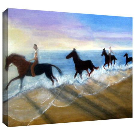 "Found it at Wayfair - ""Horses on the Beach Painting"" by Lindsey Janich Gallery Wrapped on Canvas http://www.wayfair.com/daily-sales/p/Find-Your-Style%3A-Wall-Art-Under-%24100-%22Horses-on-the-Beach-Painting%22-by-Lindsey-Janich-Gallery-Wrapped-on-Canvas~ARWL3488~E14958.html?refid=SBP.rBAjD1KkpZifKW_BOzR3AkWo4JSaOEigg8cWqUFCQcg"