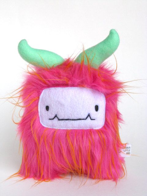 Furry Monster Bright Pink fur  Berry is a by curiouslittlebird, $44.00
