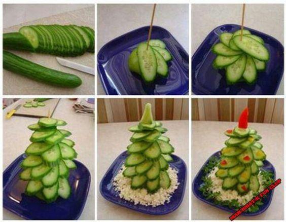 kerstboom van komkommer