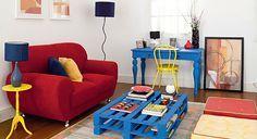 10 salas de estar coloridinhas pelas quais você vai se apaixonar - Casinha Arrumada
