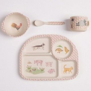 Love Mae Bamboo Place Set - Woodland tea party