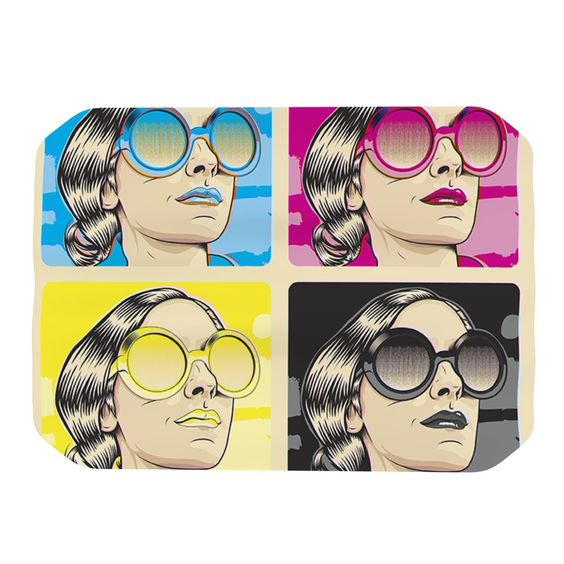 "Roberlan ""CMYK Fashion"" Pop Art Place Mat"