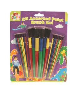 Assorted Paint Brushes 20 Pack