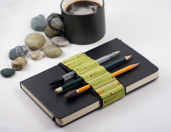 Journal Bandolier / Bamboo / replace your pencil case