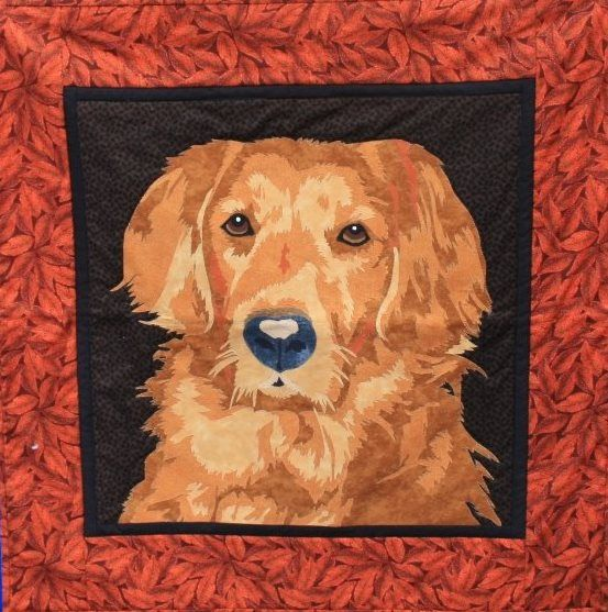 Golden Retriever quilt pattern by Toni Whitney, design for A Quilt Lovers Shop (Wisconsin)