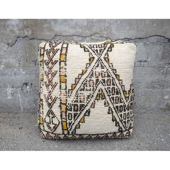 Image of White Moroccan Floor Pillow