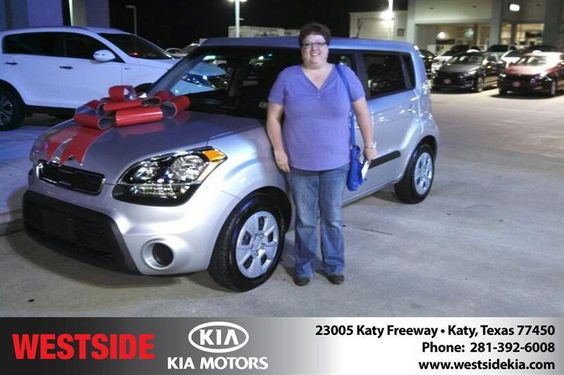 #HappyAnniversary to Rebekah Martin  on your 2013 #Kia #Soul from Everyone at Westside Kia!