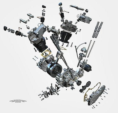 knucklehead harley engine diagram  knucklehead  free