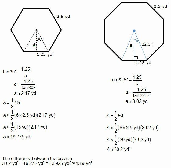 Area Of Regular Polygons Worksheet Awesome Geometry Area Apothem Worksheet Answers In 2020 Regular Polygon Word Problem Worksheets Persuasive Writing Prompts