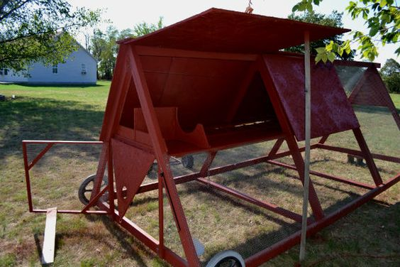 My chicken tractor around the farm pinterest old for Old farm chicken coops