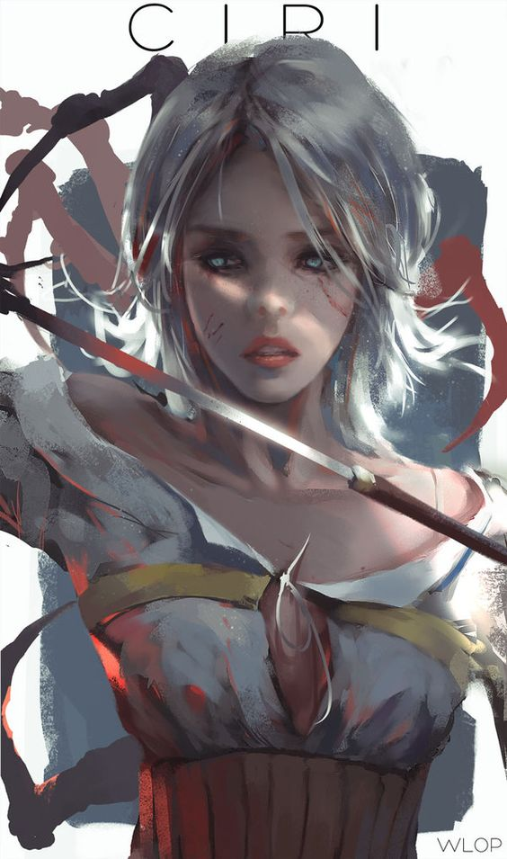 Ciri by on deviantart wlop on for Deviantart wlop