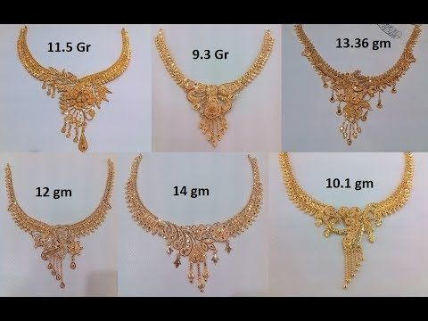 Designer Gold Necklace Collections Latest Jewellery Designs Youtube Pearl Necklace Designs Gold Necklace Designs Gold Jewelry Simple Necklace