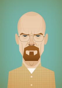 Walter White: Bryan Cranston, Stanley Chow, Chow Illustration, Breaking Bad, Bad Stanley, Walter White