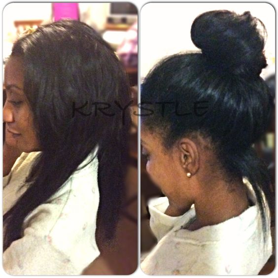 #partial #sewin #natural #pinup SEW IN