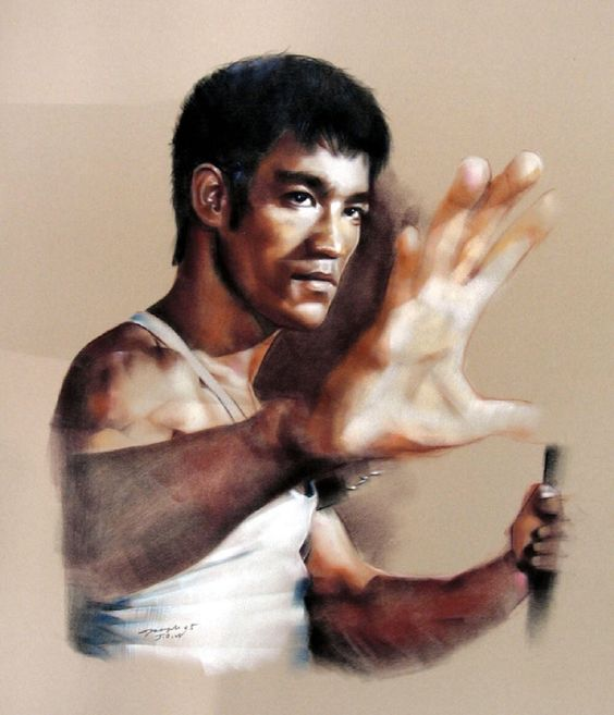 Bruce Lee art This Just came Out Awesome, Love The Likeness.Wow.