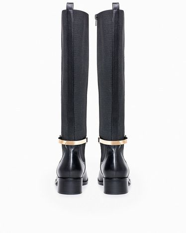 Black Riding Boots With Gold Hardware - Gommap Blog