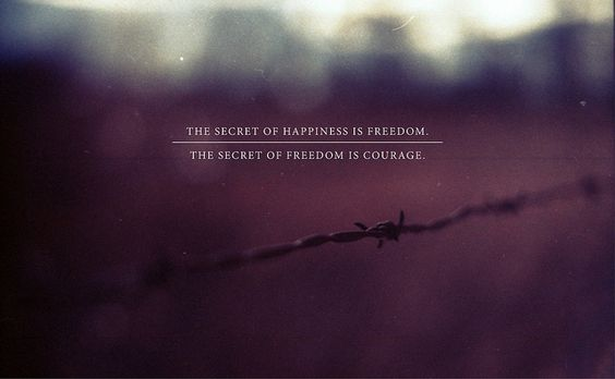 .: Happiness Is, Freedom Courage, Be Free, Inspirational Quotes, Courage Freedom, Happiness Courage, Inspiration Quotes, Wise Word