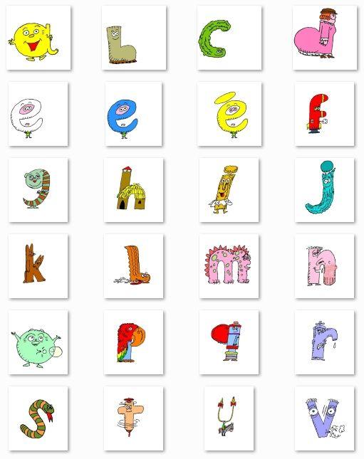 L 39 alphabet des alphas en images couleur et noir et blanc - Alphabet a decouper gratuit ...