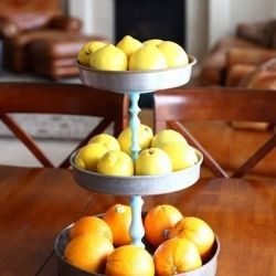 Take three cake pans and some candlesticks, plus an afternoon dedicated to DIY, and what can you get?