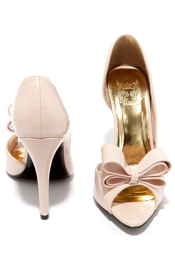 Best Bow-lieve It Nude D'Orsay Peep Toe Pumps | Pump, What s and Bows