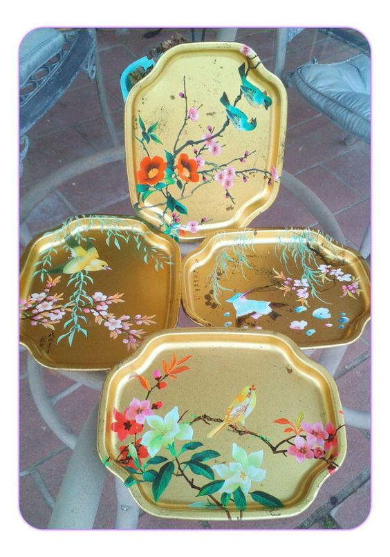 Set of Four Vintage Elite Made in England Japanese by SparkleSet, $17.50