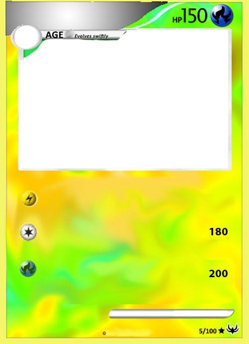 Blank Pokemon Card Mega - Invitation Templates Choose to see - blank card template