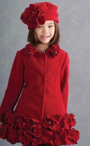 Kate Mack Red Jeweled Rose Holiday Coat Preorder<br>2 to 16 Years