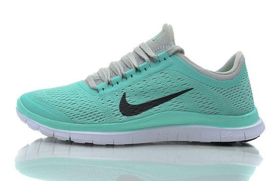 Nike Free 3.0 V5 Women Aqua Gray Shoes