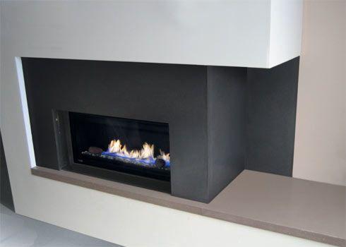 black fireplace doors and screens