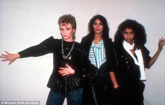 The band: Vanity and her bandmates; their hit Nasty Girl was produced by Prince: