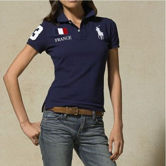 Farb-und Stilberatung mit www.farben-reich.com Ralph Lauren France Dark Blue Pony Short Sleeved Polo