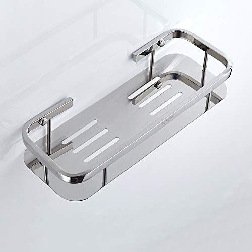 Lifxx 304 Stainless Steel Bathroom Corner Shelf Luxury Shower Caddy Household Toilet Towel Holder Stand Stainless Steel Bathroom Shower Caddy Rectangle Storage