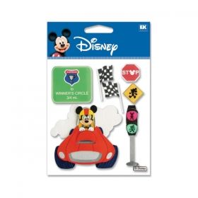 This week our Friday Featured Item is Disney scrapbooking sticker Race Car Mickey item DJMK01. Get 'em quick before they race away!    $1.50