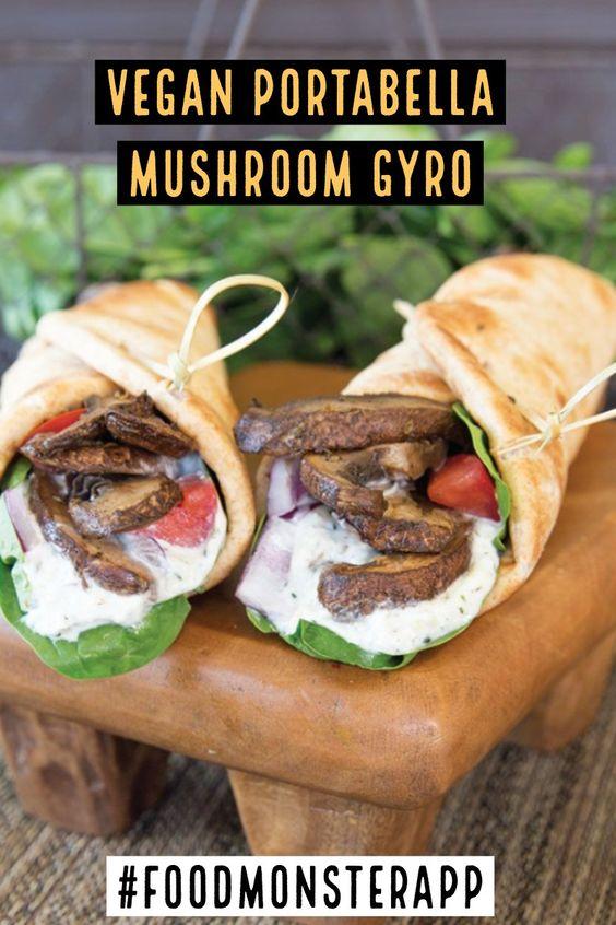 Portabella Mushroom Gyro [Vegan]