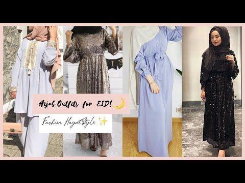 تنسيقات ملابس محجبات للعيد Hijab Outfits For Eid Lookbook Youtube Outfits Hijab