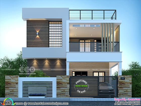 4 Bedrooms 2250 Sq Ft Modern Home Design Modern Small House Design Modern Exterior House Designs Small House Design Exterior