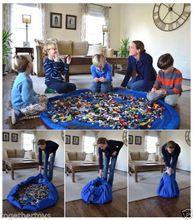 6 colores - Super gran portátil los niños los niños infantiles bebé Large bolsas de almacenamiento de juguetes organizador alfombra manta cajas para juguetes(China (Mainland))