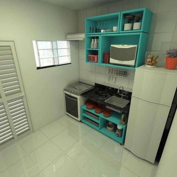 cozinha sem armário: