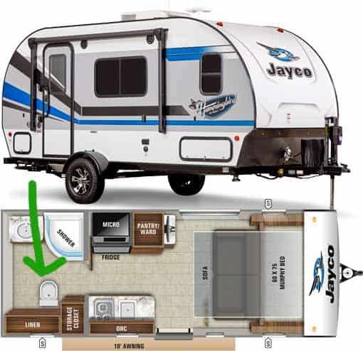 14 Very Small Campers With Toilets With Pictures In 2020 Small Campers Small Camping Trailer Small Travel Trailers