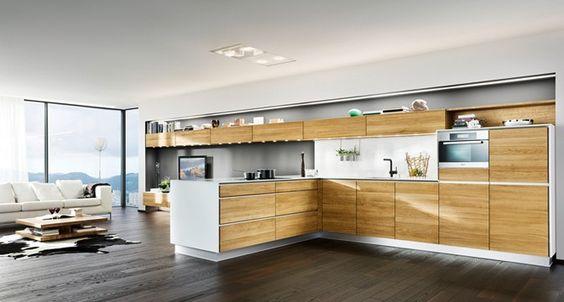 vao Küche von TEAM 7 mit flächenbündig eingelassenen LEDs für optimale Lichtverhältnisse.