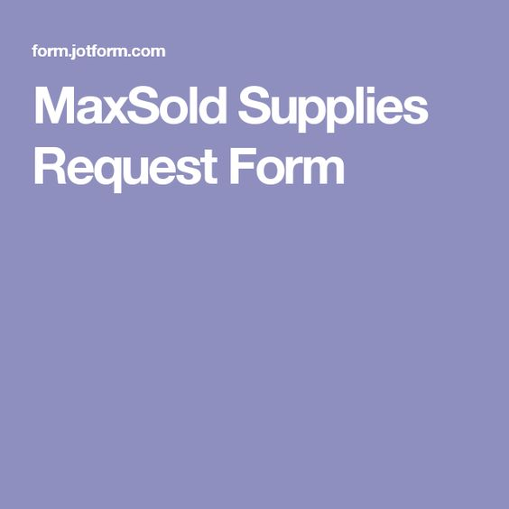 MaxSold Supplies Request Form maxsold Pinterest - request form