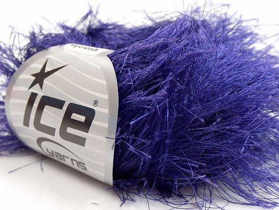 38Yd Purple Extra Long Eyelash Yarn Ice Luxurious by brokemarys