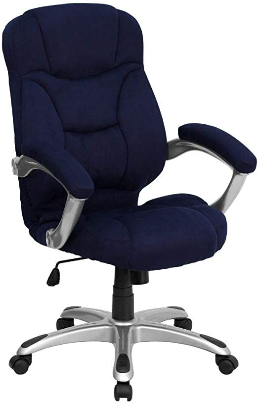 Flash Furniture High Back Navy Blue Microfiber Contemporary Executive Swivel Ergonomic Office Office Chair Contemporary Office Chairs Upholstered Office Chair
